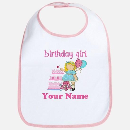 Birthday Girl Blond Bib