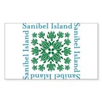 Sanibel Island Sea Turtl Sticker (Rectangle 10 pk)