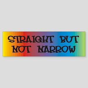 Straight Not Narrow Bumper Sticker