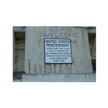 Alcatraz Sign Rectangle Magnet