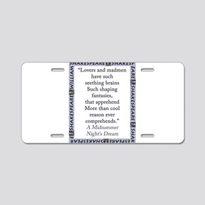 Lovers and Madmen Aluminum License Plate
