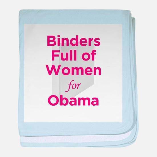 Binders Full of Women for Obama baby blanket