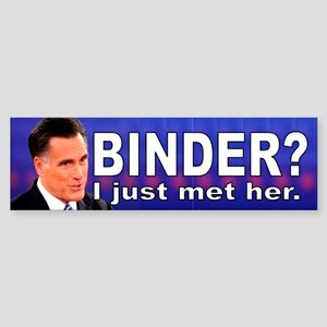 Anti-Romney bumper sticker