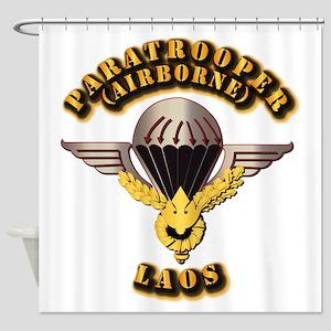 Airborne - Laos Shower Curtain