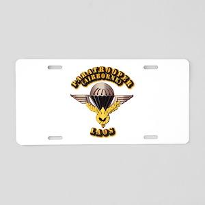 Airborne - Laos Aluminum License Plate