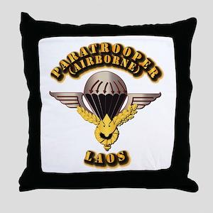 Airborne - Laos Throw Pillow