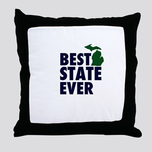 Michigan: Best State Ever Throw Pillow