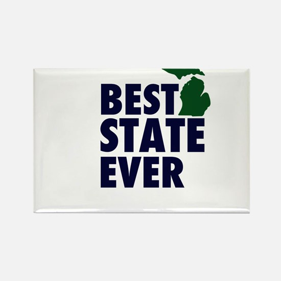 Michigan: Best State Ever Rectangle Magnet
