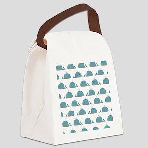 Whale Print Canvas Lunch Bag