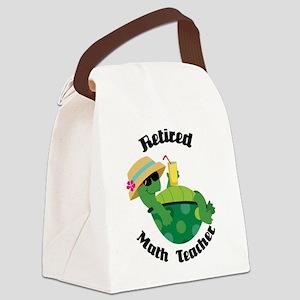 Retired Math Teacher Gift Canvas Lunch Bag