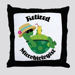 Retired Microbiologist Gift Throw Pillow