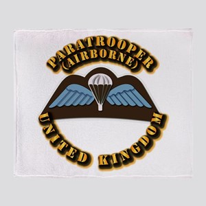 Airborne - UK Throw Blanket