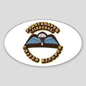 Airborne - UK Sticker (Oval)
