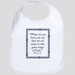 When We Are Born Cotton Baby Bib