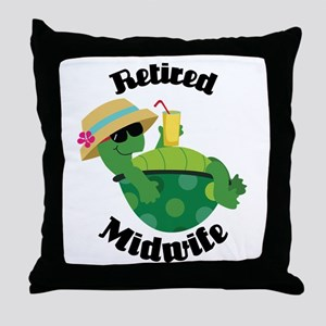 Retired Midwife Gift Throw Pillow