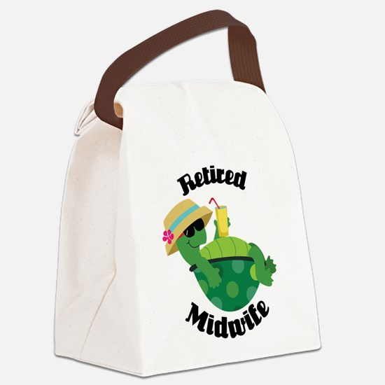 Retired Midwife Gift Canvas Lunch Bag