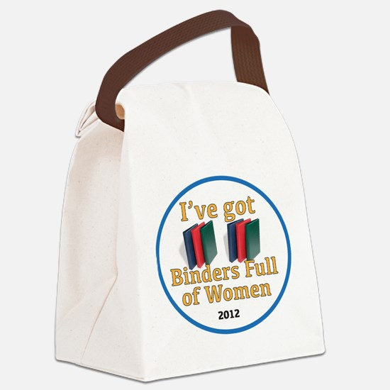 Cute Romney binders Canvas Lunch Bag