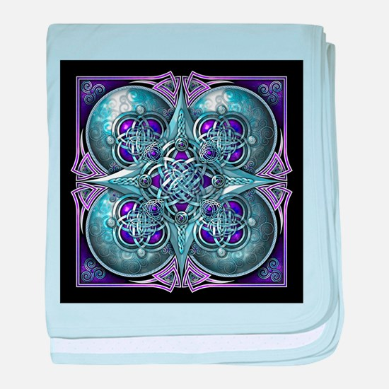 Silver & Purple Celtic Tapestry baby blanket