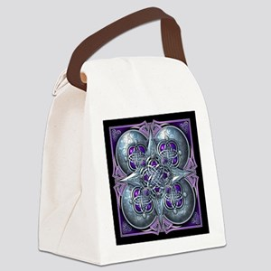 Silver & Purple Celtic Tapestry Canvas Lunch Bag
