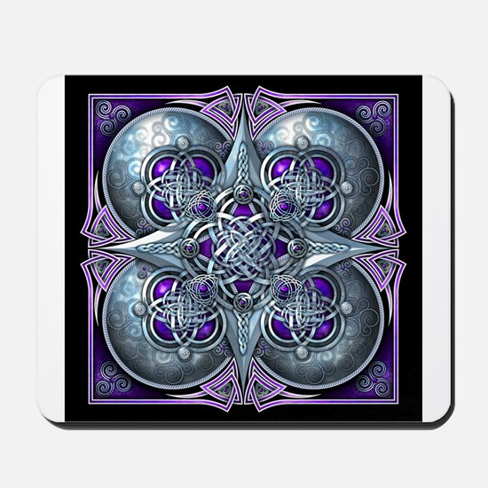 Silver & Purple Celtic Tapestry Mousepad