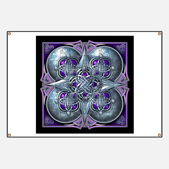 Silver & Purple Celtic Tapestry Banner