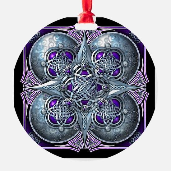 Silver & Purple Celtic Tapestry Ornament