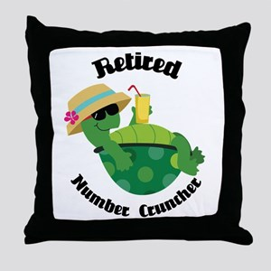 Retired Number Cruncher Gift Throw Pillow
