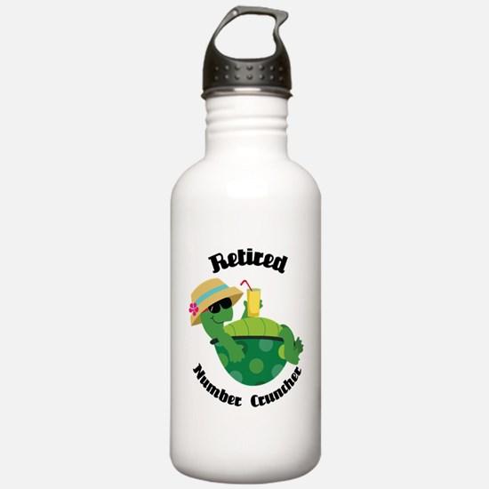 Retired Number Cruncher Gift Water Bottle