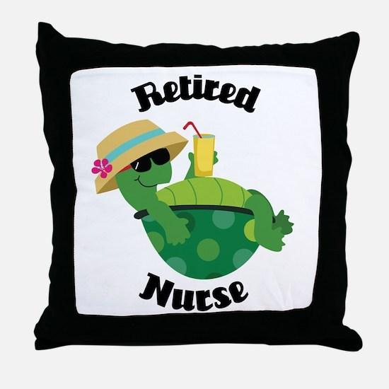 Retired Nurse Gift Throw Pillow