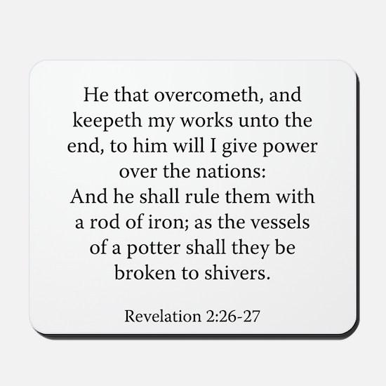 Revelation 2:26-27 Mousepad