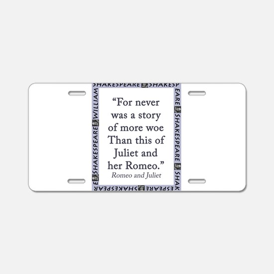For Never Was a Story Aluminum License Plate