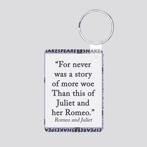For Never Was a Story Aluminum Photo Keychain