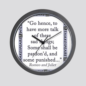 Go Hence, To Have More Talk Wall Clock