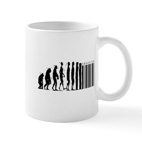 Cave Man Bar Code Evolution Mug