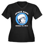 Space Jump Women's Plus Size V-Neck Dark T-Shirt