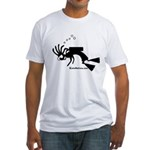 Kokopelli SCUBA Diver Fitted T-Shirt