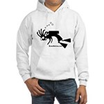 Kokopelli SCUBA Diver Hooded Sweatshirt