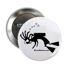 Kokopelli SCUBA Diver Button