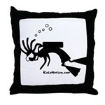 Kokopelli SCUBA Diver Throw Pillow