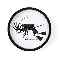 Kokopelli SCUBA Diver Wall Clock