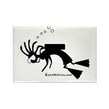 Kokopelli SCUBA Diver Rectangle Magnet (100 pack)