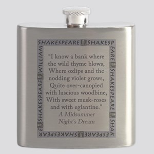 I Know a Bank Where The Wild Thyme Blows Flask