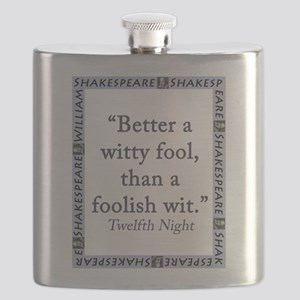 Better a Witty Fool Flask
