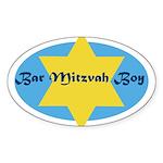 Bar Mitzvah Boy Oval Sticker