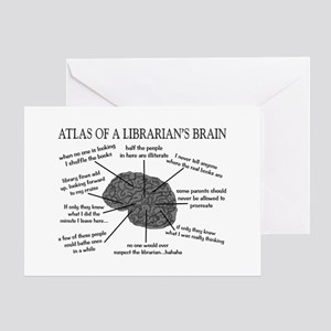 atlas of a librarians brain Greeting Card