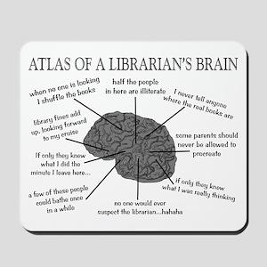 atlas of a librarians brain Mousepad