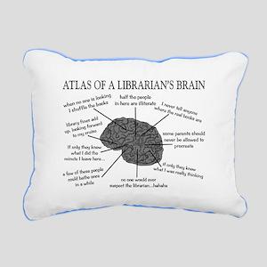 atlas of a librarians brain Rectangular Canvas