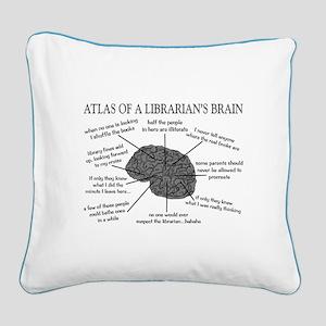 atlas of a librarians brain Square Canvas Pill