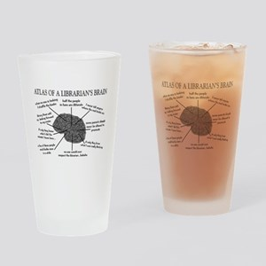 atlas of a librarians brain Drinking Glass