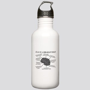 atlas of a librarians brain Stainless Water Bo